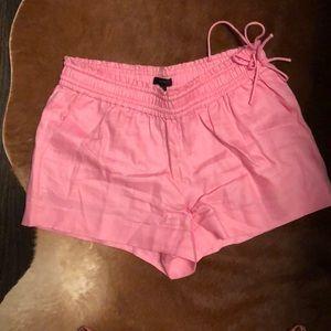 Pink Linen JCrew Shorts